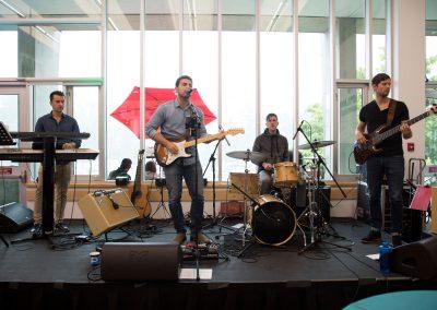 Band at the birthday bash