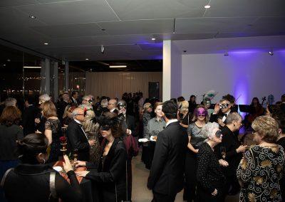People mingling at Chancellor's Circle